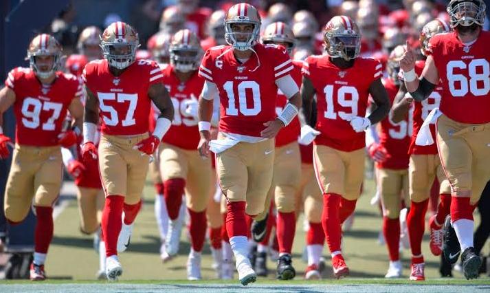 Super Bowl 2020: San Francisco 49ers. con amuleto para ganar el SB LIV