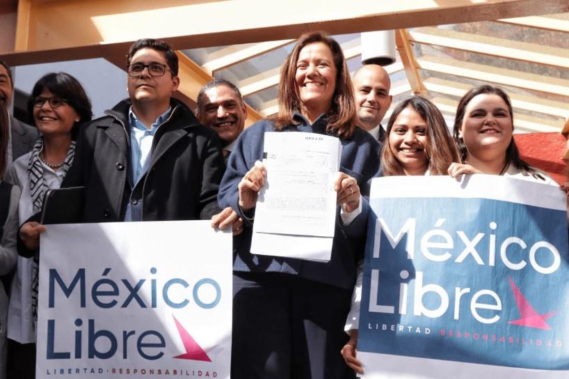 Margarita Savala solicita al INE que registren como partido político a México Libre
