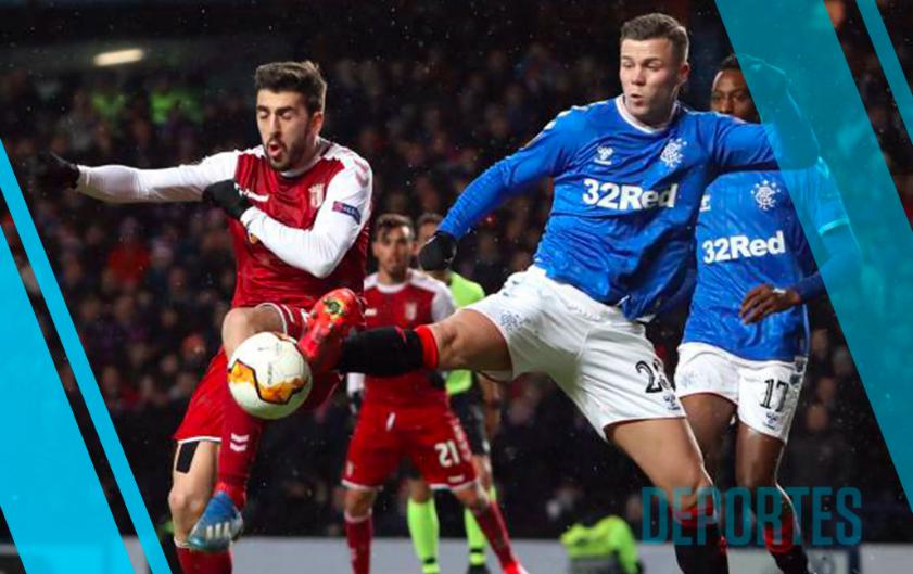 Sporting Braga vs Rangers, partido de Europa League en día de Champions
