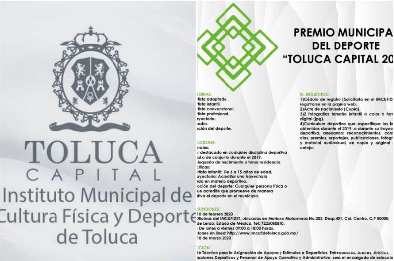 Lista la convocatoria para el premio municipal del deporte en Toluca