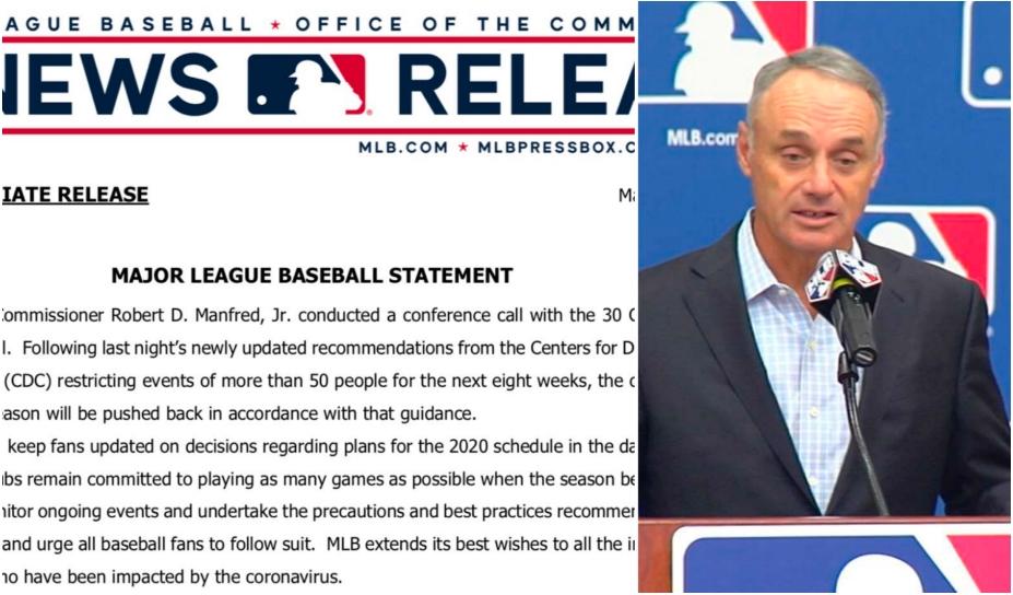 Coronavirus: Sin fecha la MLB se posterga la temporada