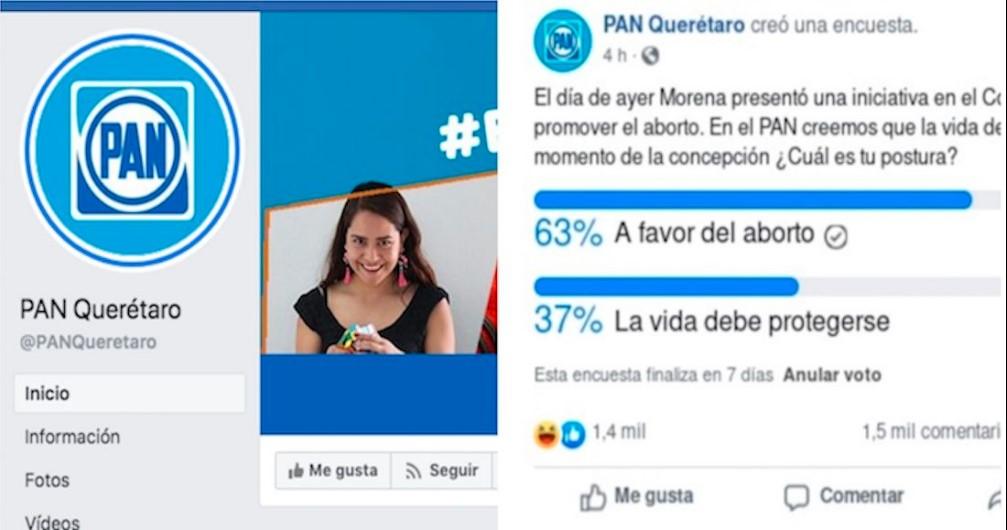 PAN hace encuesta sobre aborto en Facebook y borra los resultados que eran a favor