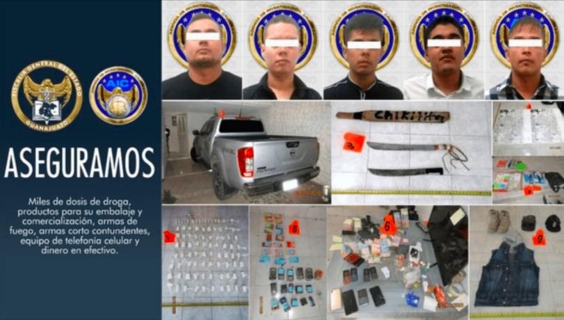 ¡Golpe al CJNG! Arrestan a 5 integrantes del cártel en León