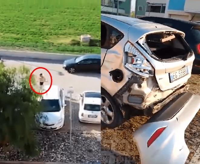 VIDEO VIRAL: Corredor enfurece y destroza a martillazos el auto de su vecina