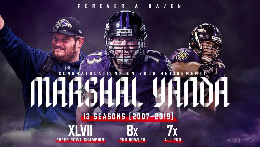 NFL: Se retira Marshal Yanda de los Baltimore Ravens
