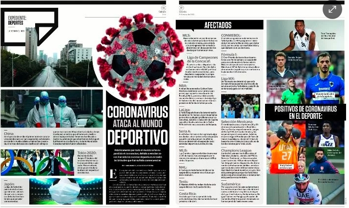 Coronavirus ataca al mundo deportivo