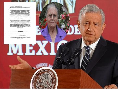 AMLO revela contenido de la carta que recibió de la mamá de 'El Chapo Guzmán'