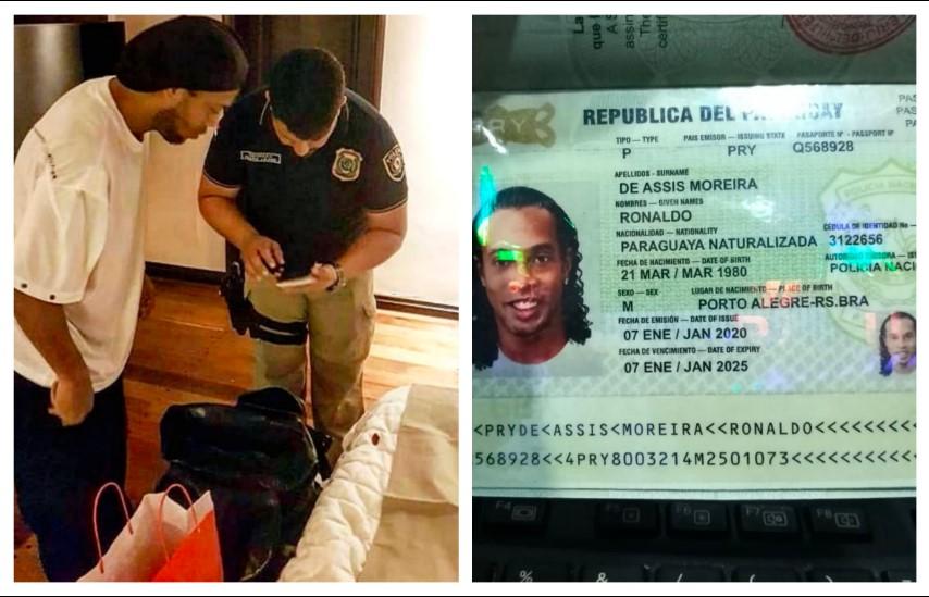 Detienen a Ronaldinho con pasaporte falso (FOTOS)