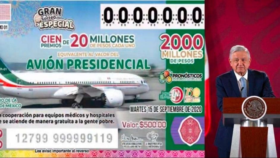 AMLO asegura que la rifa del avión Presidencial no se detiene pese a la pandemia