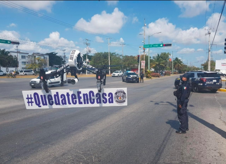VIDEO: Gente pudiente de Cancún, no respeta cuarentena, policía actúa