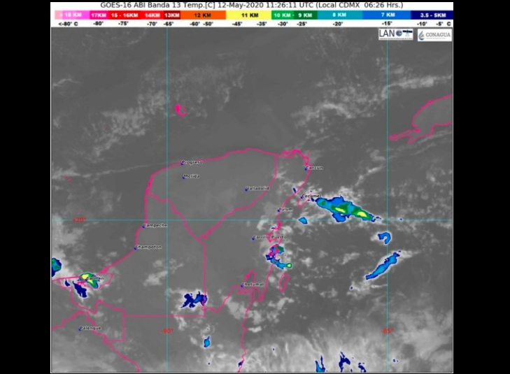 Clima Cancún, Playa del Carmen, Chetumal y Quintana Roo hoy 12 de Mayo 2020