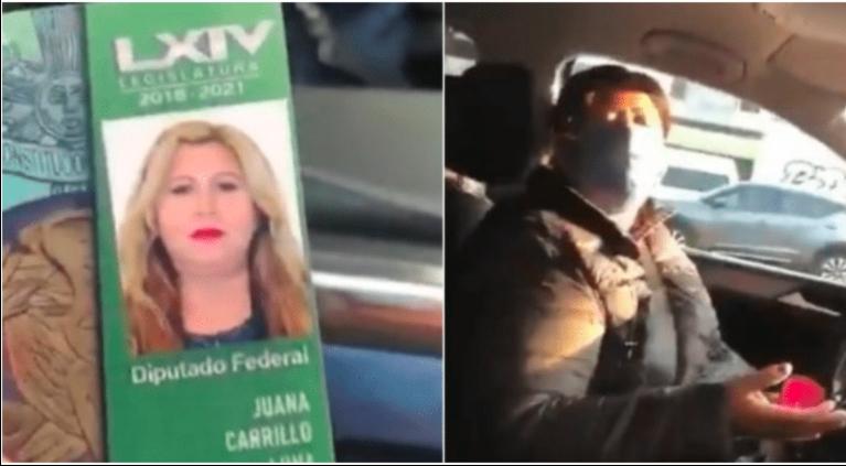 Diputada de Morena intenta evitar infracción y la llaman #LadyCharola (VIDEO)