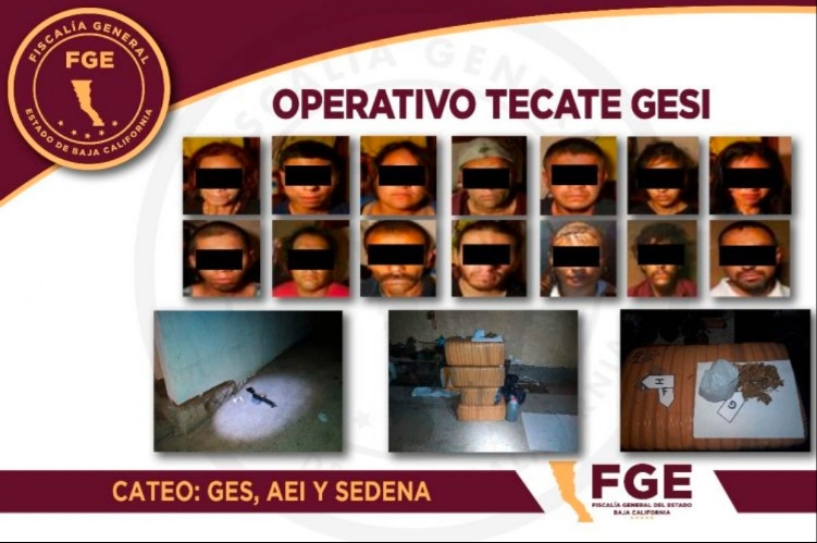 Capturan a 14 integrantes del CJNG y desmantelan célula que operaba en Tecate