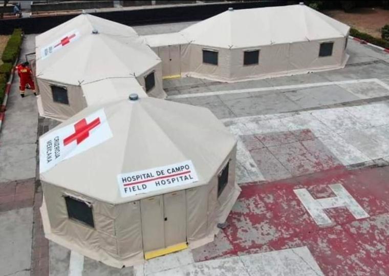 Instala Cruz Roja hospital provisional en Chetumal