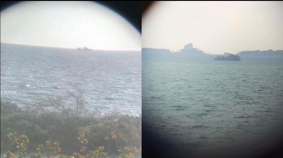 Una pequeña isla fue captada flotando por Isla Mujeres ¿Qué es y a dónde va?