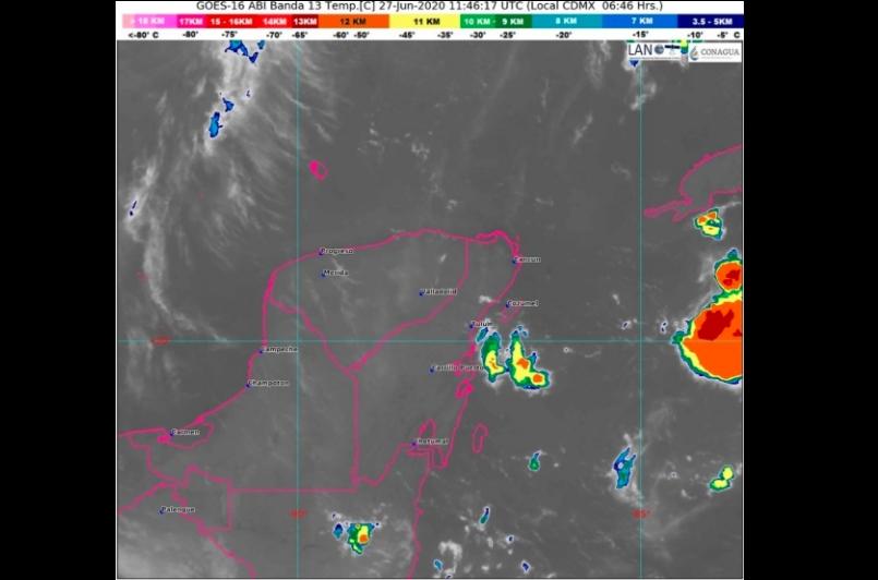 Clima Cancún, Playa del Carmen, Chetumal y Quintana Roo hoy 27 de Junio 2020