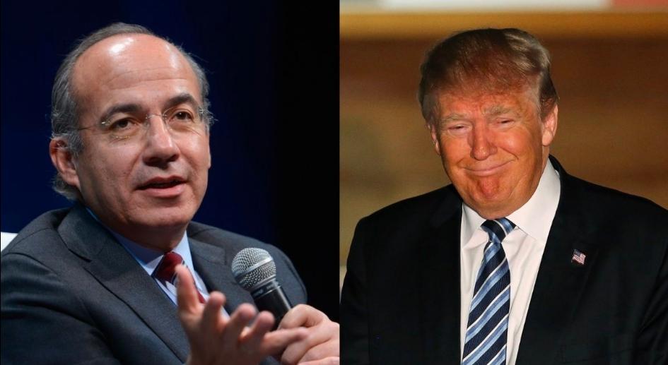 """Felipe Calderón es llamado """"gallina teporocha"""" por borrar un tuit contra Donald Trump"""