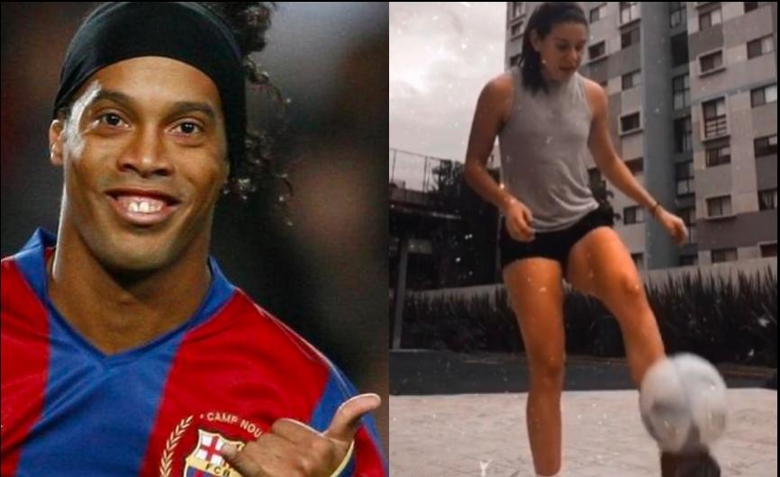 ¡Norma Palafox le gana a Ronaldinho! Y las domina fácilmente (VÍDEO)