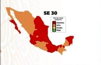 Semáforo epidemiológico en Quintana Roo se mantiene en naranja para el norte y rojo para el sur