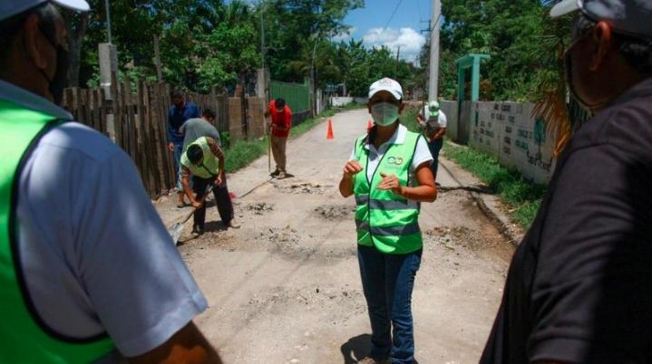 Gobierno de Laura Fernández bachea vialidades de Leona Vicario