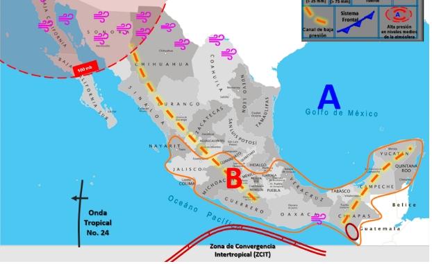 Clima hoy para Cancún y Quintana Roo 4 de agosto de 2020