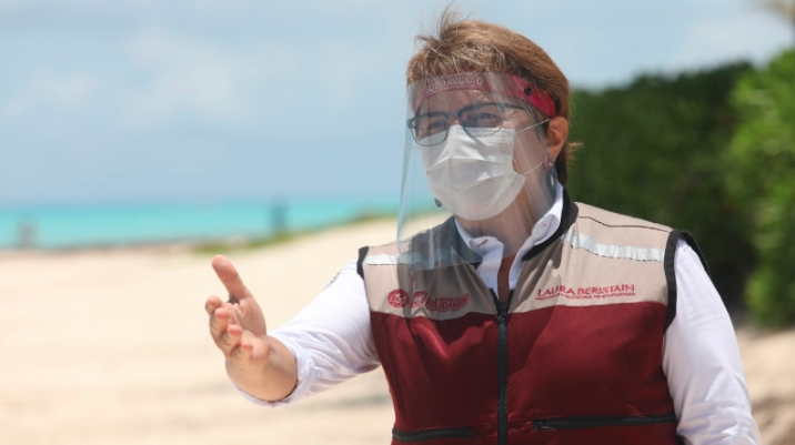 Se amplía programa de reapertura de playas: Laura Beristain