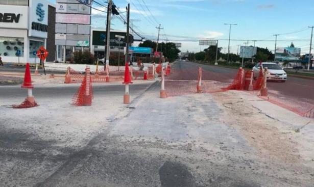 Padece Playa del Carmen por la inmovilidad generada por el cierre de calles y avenidas