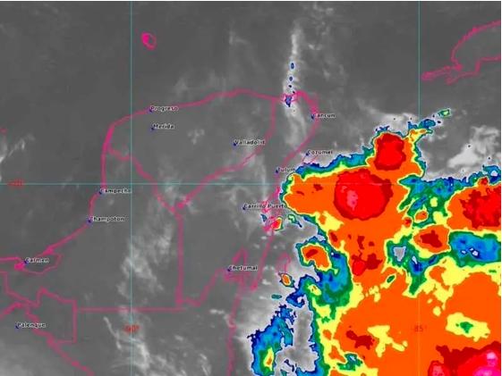 Emiten Alerta Verde en Chetumal y Bacalar por tormenta tropical 'Nana'
