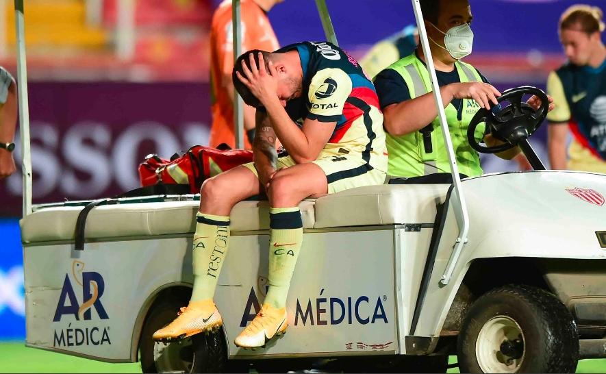 Incertidumbre en el América por lesión de Benedetti; temen gravedad