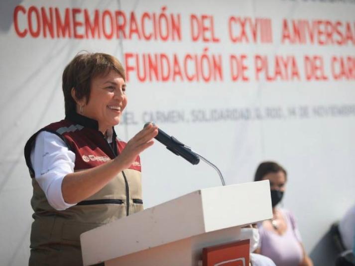 Conmemoran Laura Beristain, 118 Aniversario de Playa del Carmen, cabecera de Solidaridad