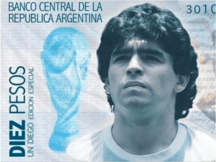 Proponen a Diego Armando Maradona como la nueva cara del billete de 10 pesos en Argentina
