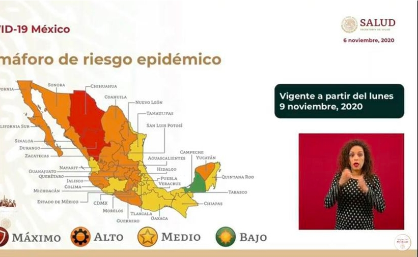 Regresa Quintana Roo a amarillo en el semáforo federal