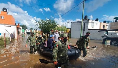 Suman 368 mil damnificados por inundaciones en el sureste