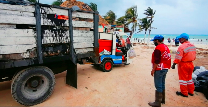 Brigadas continúan rehabilitación de Solidaridad tras paso de ciclones