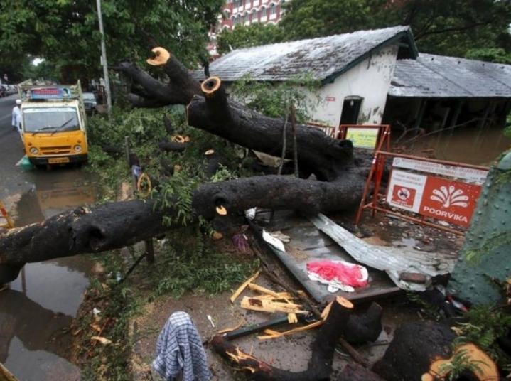 """El ciclón """"Nivar"""" atacó fuertemente las costas de la India"""
