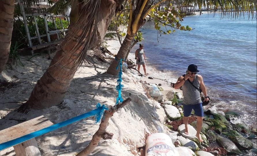 Vuelve a registrarse erosión en la zona costera de Playa del Carmen