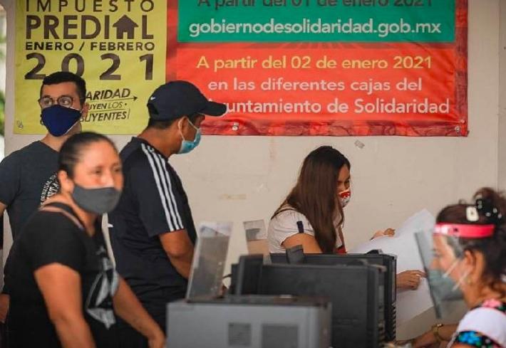 Inicia con éxito pago del impuesto predial 2021 en Solidaridad