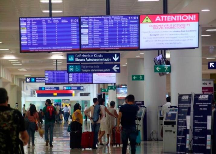 Aeropuerto de Cancún con mayor afluencia internacional