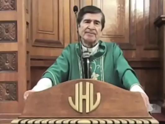 Video: Obispo asegura que usar cubrebocas es no confiar en Dios