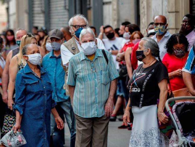 América Latina supera los 20 millones de contagios de Covid-19