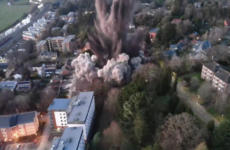 Detonación de una bomba de la Segunda Guerra mundial provoca daños en Reino Unido