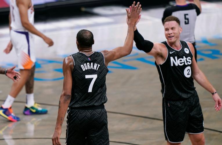 Durant regresa con 33 puntos y Nets vencen 128-119 a Suns