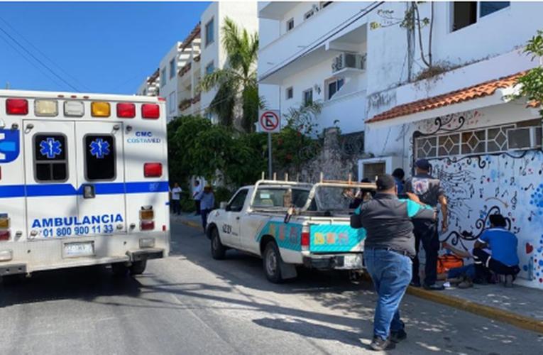 Trabajador de Izzi recibe descarga eléctrica en Playa del Carmen