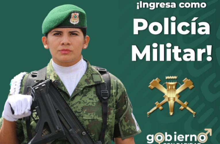 SEDENA abre vacantes para mujeres que quieran unirse a la Policía Militar