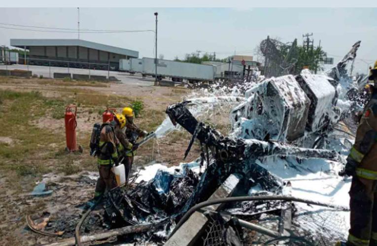 Se desploma helicóptero cerca del Aeropuerto del Norte en NL