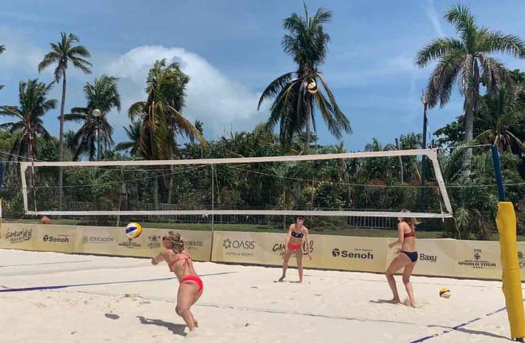 Chetumal: Arriban jugadores para Tour Mundial de Voleibol de Playa en Cancún