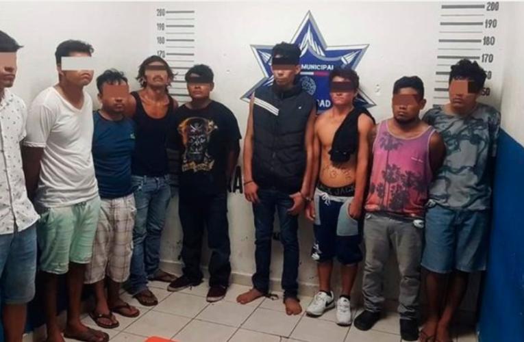 Caen nueve narcomenudistas en Puerto Aventuras