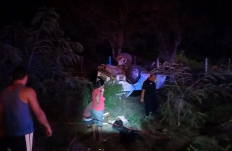 Vuelca camioneta con migrantes en Chiapas; cuatro muertos