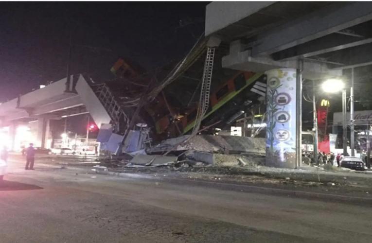 Vagón del Metro se desploma en la Ciudad de México