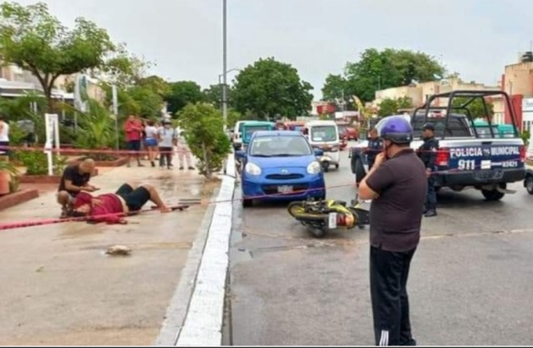 Atacan a tiros a un repartidor en Playa del Carmen